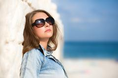 Sexy woman in sunglasses Stock Photos