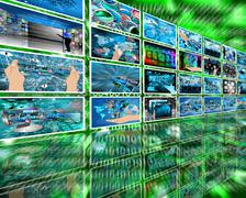 Wall high-tech Stock Illustration