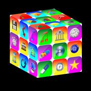 cubic abstraction - stock illustration