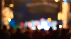 People on the concert Stock Footage