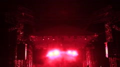 Red lights on the concert Stock Footage