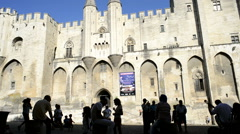 Popes' Palace of Avignon, unesco world heritage in Southern France Stock Footage