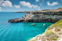 beautifu southern coast of italy - stock photo