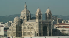 Marseille Cathedral  - Cathedrale de la Major Stock Footage