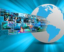 images in cyberspace - stock illustration
