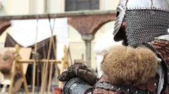 Medieval Warrior Stock Footage