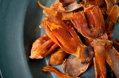 mace, nutmeg shell - stock photo