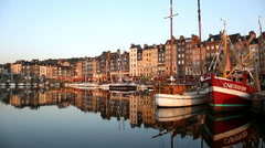 Port Honfleur, Normandy, France - stock footage