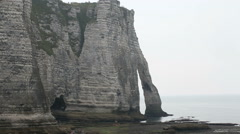 The cliffs of Etretat in Normandy, France Stock Footage