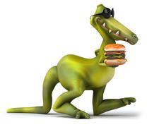 Stock Illustration of fun dinosaur