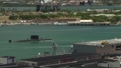 Royal Canadian Navy Submarine Her Majesty's Canadian Ship (HMCS) Victoria Stock Footage