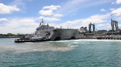 Littoral combat ship USS Independence Stock Footage