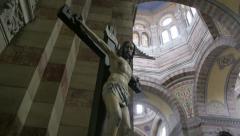 Jesus Christ on Cross - Crucifixion Stock Footage