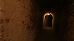 World War 1 underground tunnel system Stock Footage