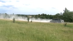 Royal Danish Army Leopard 2 tanks at Grafenwoehr, Germany Stock Footage