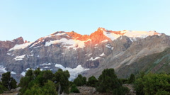 Mountains in the morning. Time Lapse, Pamir, Tajikistan Stock Footage