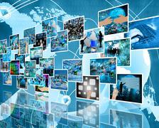 Wall high-tech Stock Illustration