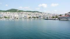 Greek city of Kavala Stock Footage