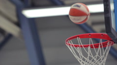 Multiple Basketballs being thrown to the basket Stock Footage