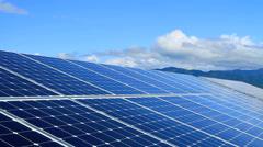 Solar panels. - stock footage