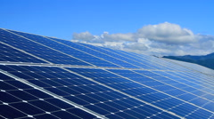 Solar panels. - stock footage