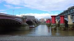 Blackfriars Bridge London - stock footage
