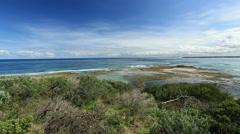 Coastal landscape Victoria Australia Stock Footage