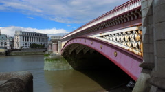 Blackfriars Bridge London Stock Footage