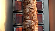 Stock Video Footage of Shawarma meat