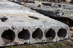 old concrete blocks - stock photo