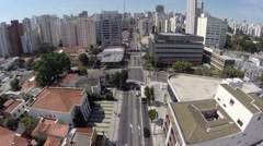 Aerial view from Avenue Brigadeiro Luis Antonio in Sao Paulo, Brazil Stock Footage