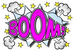 Comic sound effect boom Stock Illustration