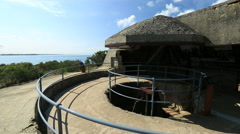 Australian World War 1 coastal fort system Stock Footage