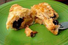 danish pastries, apple pockets - stock photo