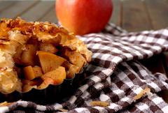 danish pastries, apple pie - stock photo
