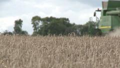 Stock Video Footage of A Modern Combine Harvester, Arty Shot