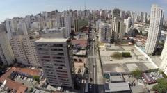 Aerial view from Avenue Brigadeiro Luis Antonio in Sao Paulo, Brazil Stock Footage