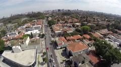 Aerial view from Upscale Neighborhood in Sao Paulo, Brazil Stock Footage