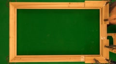 EXCLUSIVE Chromakey hand-crafted golden frame h264-420 1080p UHQ30fps 90sec Stock Footage