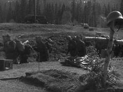 WW2 German Infantery Marching Stock Footage