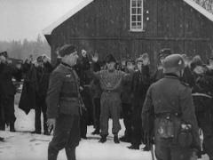 WW2 German Soldiers And Prisoners In Norway Stock Footage