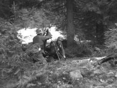 WW2 German Soldiers Firing Mortar Stock Footage