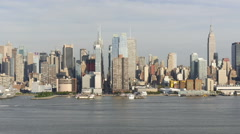 Midtown Manhattan NYC Skyline Stock Footage