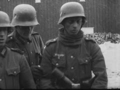 WW2 German Soldiers With Grenade Stock Footage