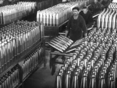 WW2 German War Industrie - Production Of Ammunition Stock Footage