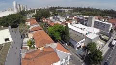 Aerial view from Moema in Sao Paulo, Brazil Stock Footage