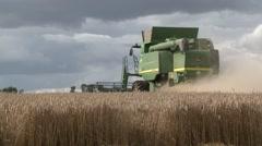 John Deere Combine Harvester Stock Footage