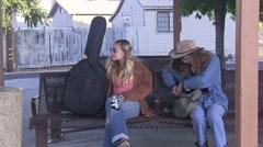 Runaway teen girls Stock Footage