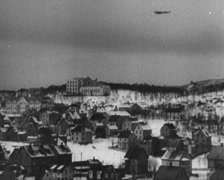 WW2 German Plane Focke-Wulf-FW200 Flying Over Norway Stock Footage