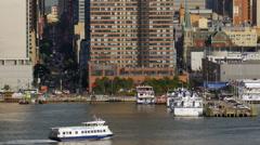 NYC Waterways 42nd Street - stock footage